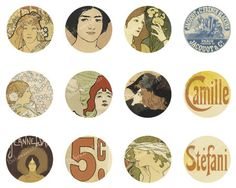 Digital Collage Sheet of Les Maitres de l by behressentials, $1.25