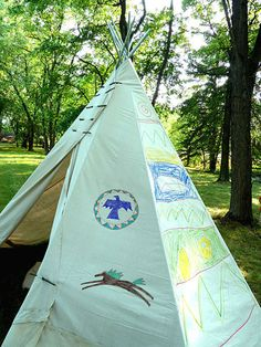Make a Backyard TeePee ... a great Girl Scout project!