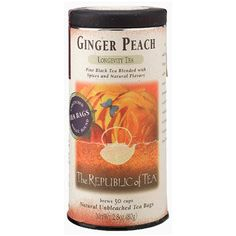 Our #1 selling tea at Main Street Coffee House. Ginger Peach www.mainstreetroasters.com Ginger Peach Black Tea Bags