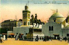 c.1890 - Djâmâa El-Djedîd mosque & ex. Republic Plaza (Algiers, Algeria)