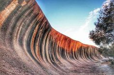 Wave Rock in Western Australia.