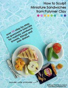 I can use these ideas to do cakes too! Polymer clay food