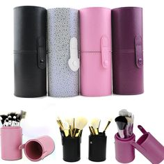 a3ebf2affc 15 Types PU Leather Travel Cosmetic Brushes Pen Holder Storage Empty Holder  Makeup Artist Bag Brushes Organizer Make Up Tools