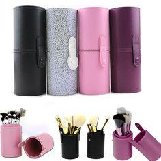 15 Types PU Leather Travel Cosmetic Brushes Pen Holder Storage Empty Holder Makeup Artist Bag Brushes Organizer Make Up Tools