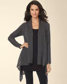 Soma Intimates Drape Front Sweater Wrap Heather Quartz #somaintimates My Soma Wish List Sweeps