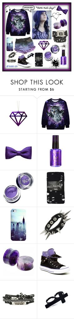 """""""Purple dream <3"""" by dolphinloverd ❤ liked on Polyvore featuring ZuZu Kim, Kérastase, Maybelline, Full Tilt, Casetify and Converse"""