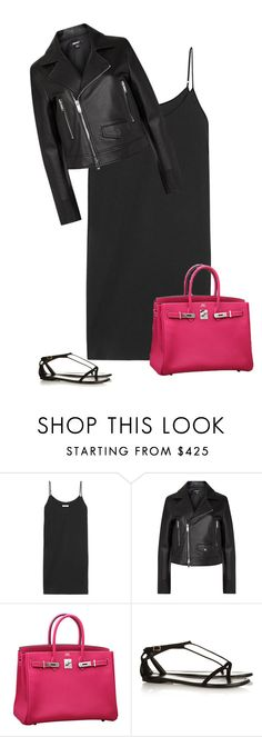 """"""":)"""" by endonggg on Polyvore featuring Equipment, DKNY, Hermès, Yves Saint Laurent, women's clothing, women, female, woman, misses and juniors"""