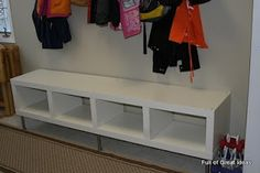 Full of Great Ideas: Ikea hack - Easily convert expedit shelf to a bench