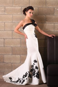 A pure white or pure ivory colour or add some other colour to you wedding dress. It is a bold choice, so it makes a strong statement!