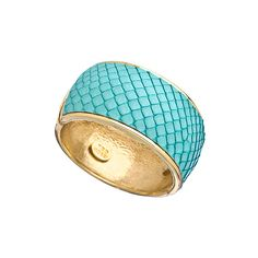 Ted Rossi Mermaid Python Hinged Bracelet (265 AUD) ❤ liked on Polyvore featuring jewelry, bracelets, blue, blue bangle bracelet, bangle bracelet, blue jewelry, bangle jewelry and ted rossi