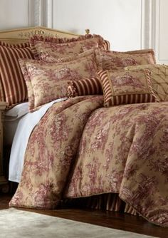 Sherry Kline  Country Sunset Comforter Set - Red - Cal. King
