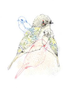 I would really like a little print of these birdies.  Charmaine Olivia Ilustration