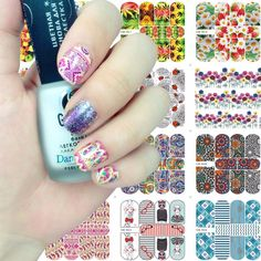 2017 New Arrival 70*80mm Nail Stickers YZWLE Water Transfer Decals Foils Polish DIY Nail Art Tools Nails Beauty Accessories