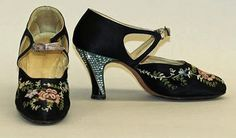 Vintage 1920s embroidered shoes Lovely