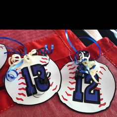 Baseball Gift Tags...end of season gifts, but you could make these into volleyballs
