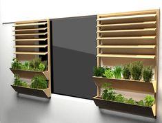Potager coulissant fixable aux façades des immeubles. Une troisième voie pour l'agriculture urbaine, après la culture sur les toits et les jardins partagés.