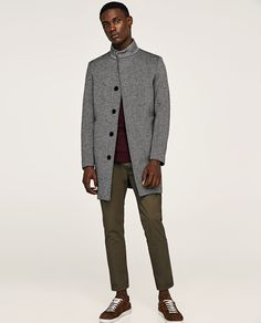 Image 1 of HERRINGBONE COAT from Zara