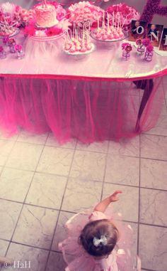 Tutu Skirts for table and guests by Hostess to the Host
