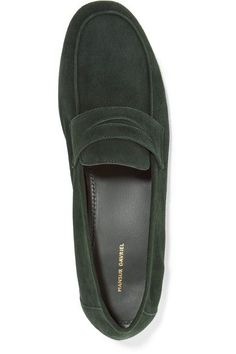 Mansur Gavriel - Classic Suede Loafers - Emerald - IT38.5