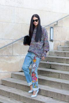 Gilda Ambrosio - Paris Fashion Week Fall 2014 Street style