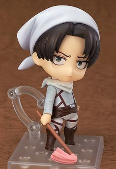 Geek Levi Cleaning Version Nendoroid Attack on Titan's Levi is the bad-ass leading soldier of the Survey Corps, but for some reason we love him more in his cleaning get-up. Details on how to own him after the break. Read More —>