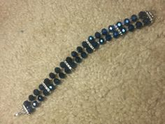Blue and white crystal bracelet