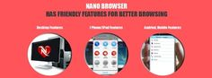 Nano Browser is a first Indian web browser that run on multiple devices and is available for free download. bit.ly/20lukqB