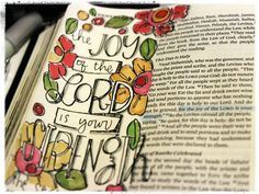 The joy of the lord journaling in the bible
