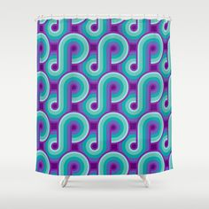 Infinity - 8Purple8 Shower Curtain Katrina Berlin Design //\\ www.katrinaberlin.com