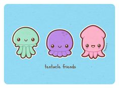 jellyfish, octopus, squid making some cute vector art n_n might make the jellyfish into a plush? --------------- blog shop twitter facebook tumblr