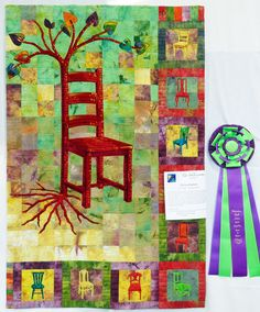 """My favorite of all my art quilts.  Entitled """"Reincarnation"""""""