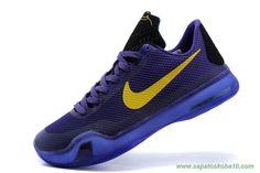 venda de tenis online Kobe Bryant Roxo Ouro Nike Kobe X
