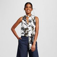 Women's Sleeveless Bow Blouse - Who What Wear