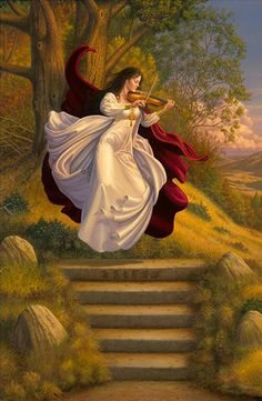 Female Bard with Violin