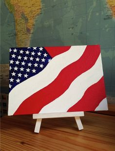 American Flag in the Wind Canvas Art by CleverMakings on Etsy, €20.00