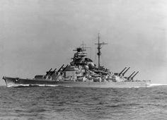 German Battleship Tirpitz, twin of the Bismarck