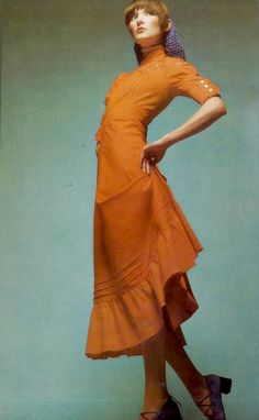 Vogue Italia 1971,Photo by Barry Lategan