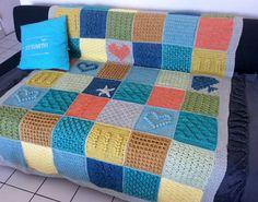 Scheepjes CAL 2016 - Last Dance On The Beach Cal 2016, Last Dance, Afghan Blanket, Beach Blanket, Crochet Blankets, Crotchet, Afghans, 2 Colours, Crochet Projects