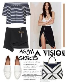 """""""Asym Skirts"""" by bysc ❤ liked on Polyvore featuring Nasty Gal, Anthony Vaccarello, Topshop and Dolce&Gabbana"""