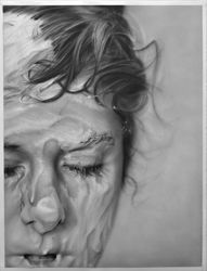 MELISSA COOKE - Slathered  A NYC based artist who uses graphite power as medium for photorealistic drawings.