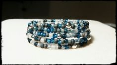 Forever in Blue Jeans-Memory wire bracelet