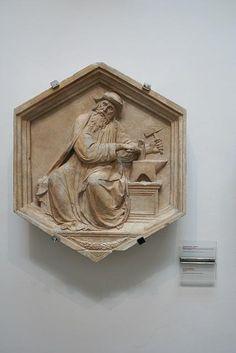 Campanile di Giotto - Luca della Robbia: la Metallurgia - 1334-1336 - Museo dell'Opera del Duomo, Firenze