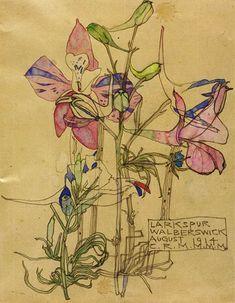 Charles Rennie Mackintosh. Larkspur. Walberswick, August 1914. View 1.