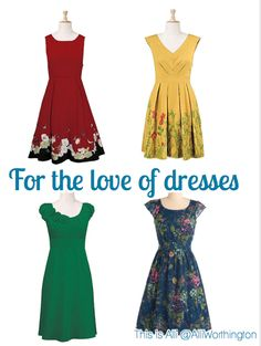 I'm ready for spring.....dresses!