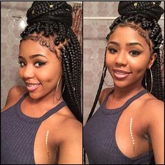 Natural Hairstyles With Braids And Twists Baddie - how to do short chunky jumbo box braid/twist on natural hair Box Braids Hairstyles, Box Braids Bob, Short Box Braids, Blonde Box Braids, Jumbo Box Braids, My Hairstyle, African Hairstyles, Girl Hairstyles, Protective Hairstyles