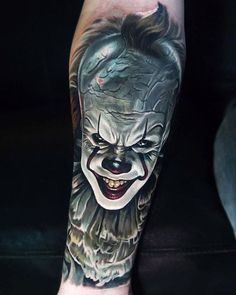 Have you seen IT yet? artist: @jordancroketattoo #realink #inkspiration #fridaythe13th