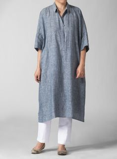 MISSY Clothing - Linen Monk's Dress