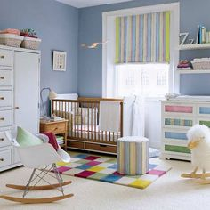 Cute nursery! I love this color blue. It's both calming and refreshing.