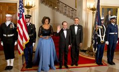 Not always does she toe the line of fashion politics. In 2014, Mrs. Obama wore Carolina Herrera, a Venezuelan-American designer, to a state dinner with President François Hollandeof France.