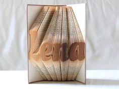 Gastgeschenke - Dein Name ° Gefaltetes Buch - ein Designerstück von KlausUndSo bei DaWanda